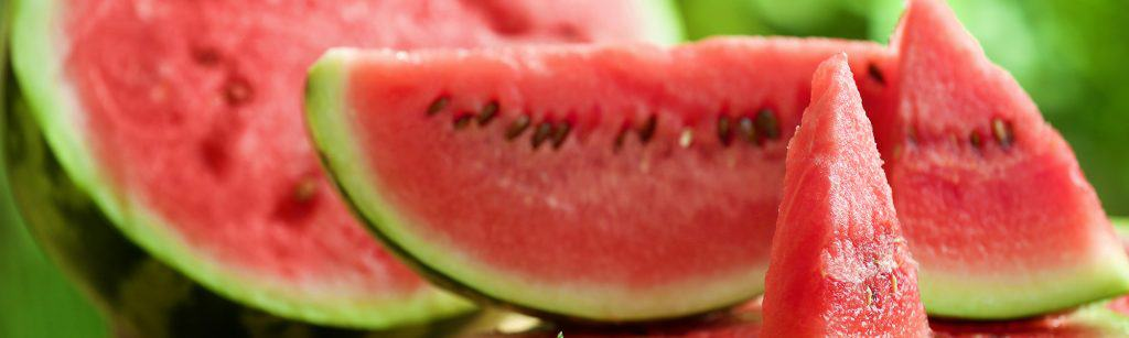 Close up of watermelon slices, which have many health benefits