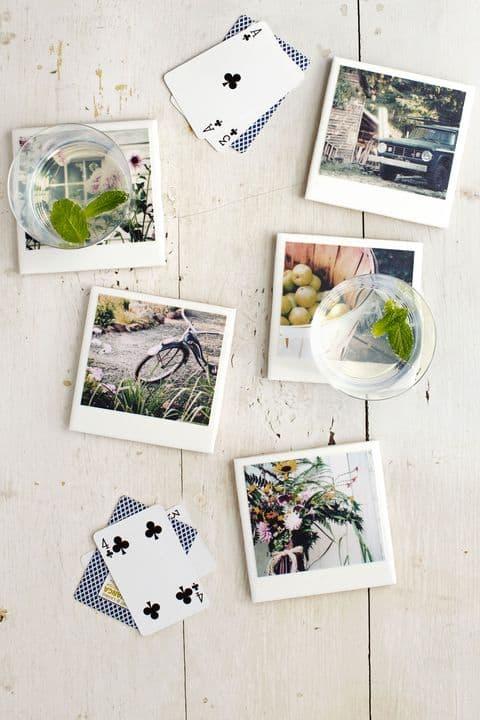 DIY Christmas Gift Ideas - Polaroid Coasters