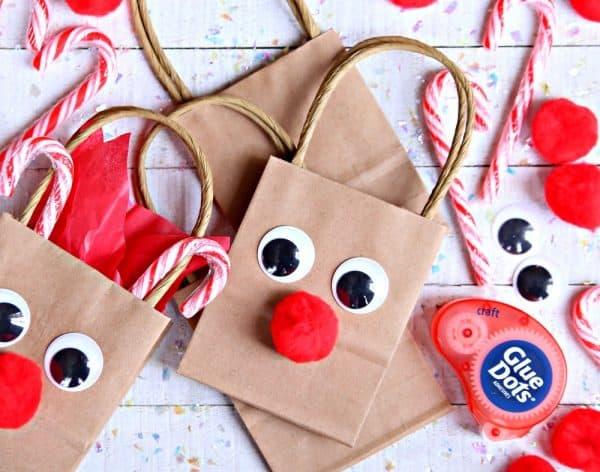 DIY Christmas Gift Ideas - Reindeer Gift Bags