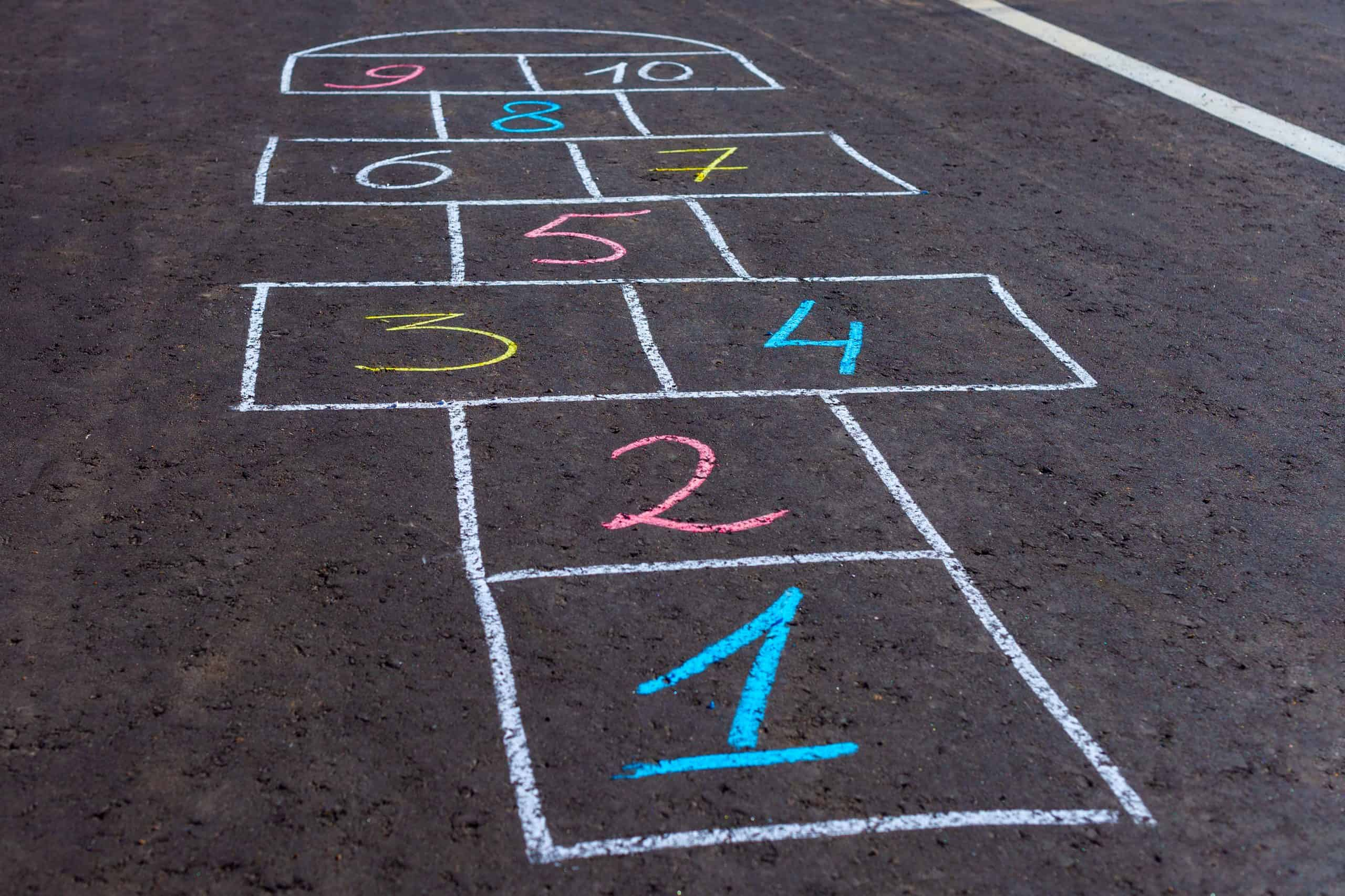 Old school game of hopscotch