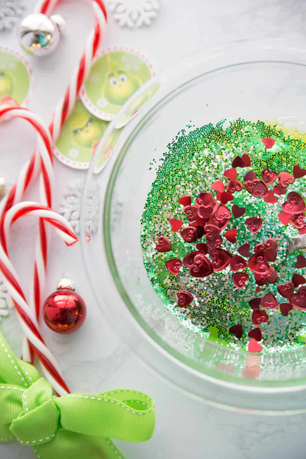Grinch Slime - STEAM Christmas Activities