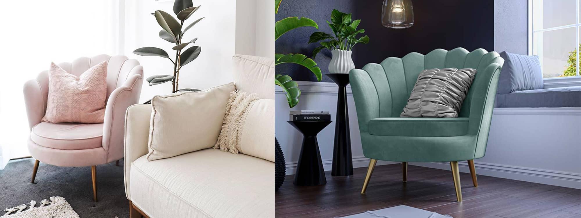 WIN a DIY Decorator Chantal Scallop Velvet Chair