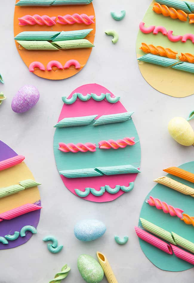 Easter Crafts - Pasta Easter Eggs