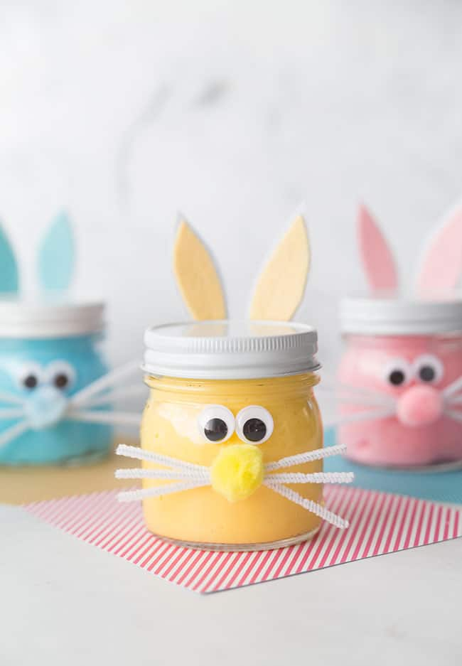 Bunny Slime Jars for Easter Themed STEAM Activities