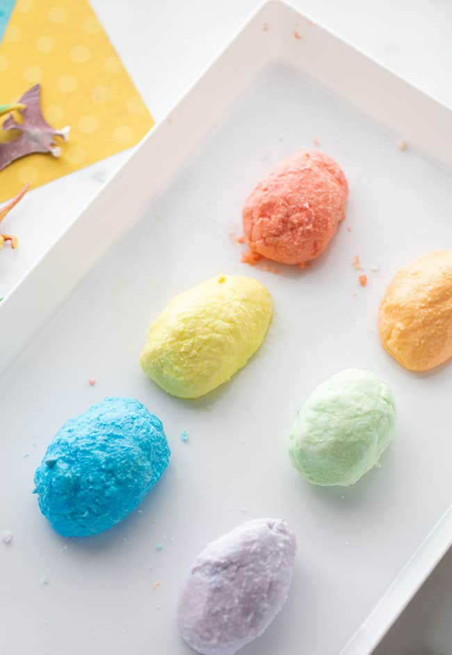 Create dino eggs for Easter Themed STEAM Activities