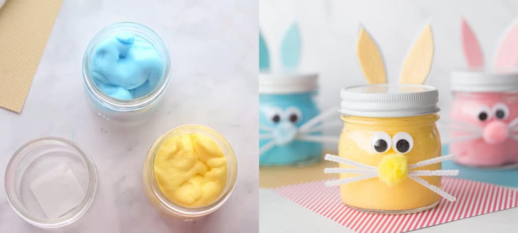 Bunny slim jars as Easter themed STEAM activity