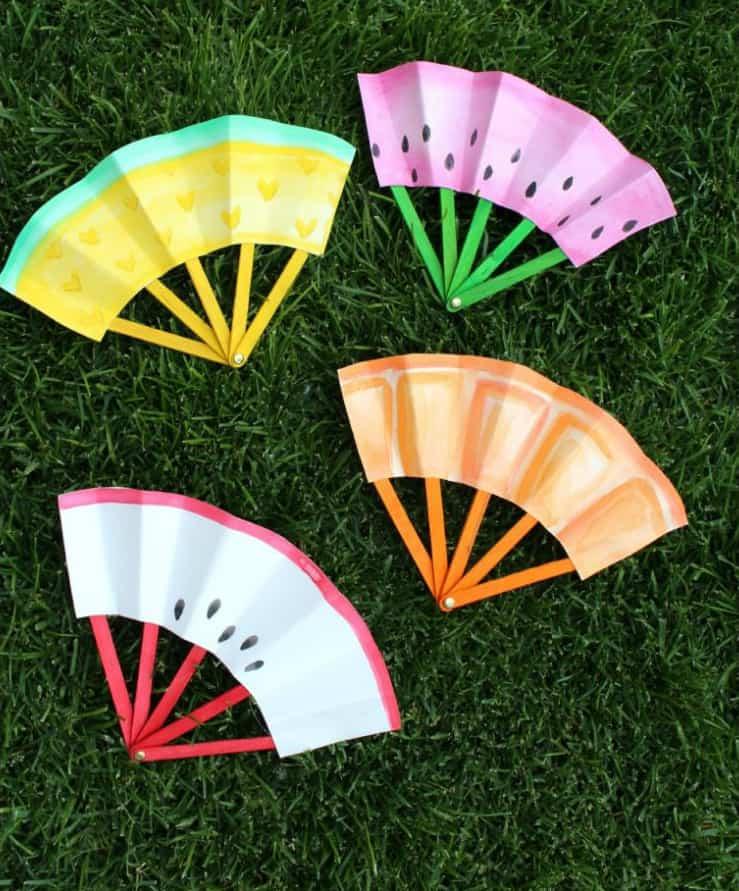 Craft activities - Handheld fruit fans