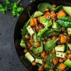 Roasted Sweet Potato and Avocado Salad