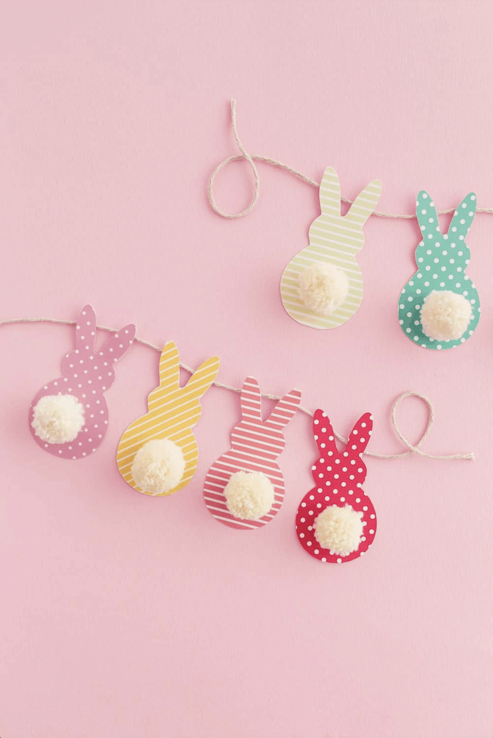 Easter Bunny Garland as Easter crafts for kids