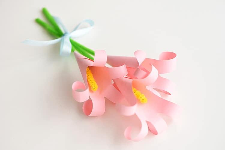 Handprint Paper Lilies - Easter craft for kids