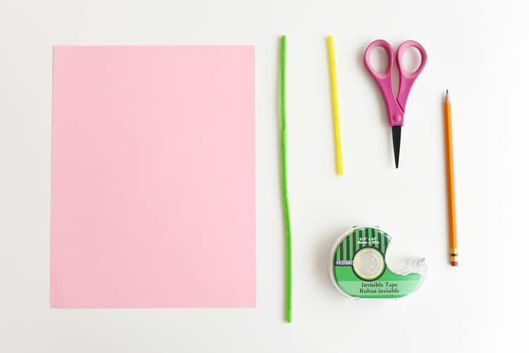 Materials for Handprint Paper Lilies Easter craft for kids