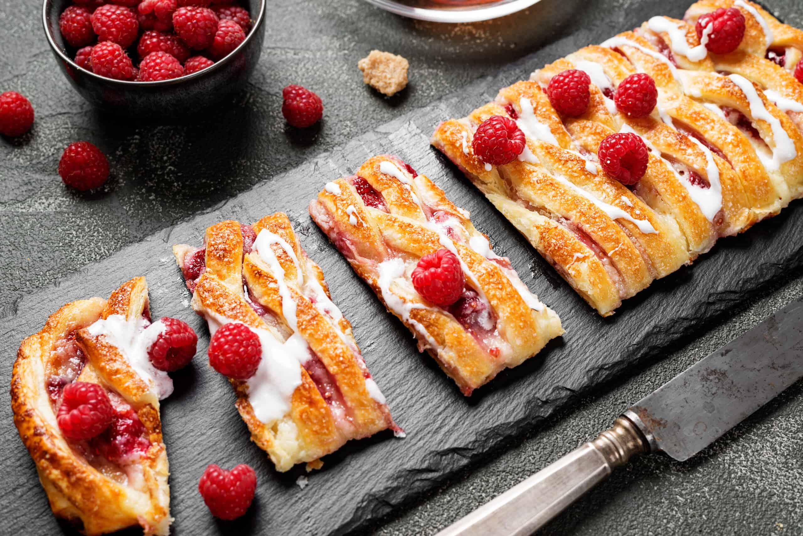 Braided Raspberry Danish – Recipes to Treat Mum