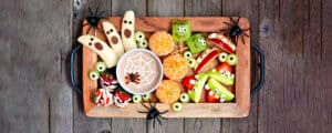 Halloween Recipe Fruit Platter With Dipping Sauce