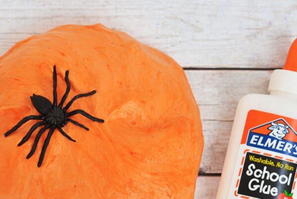 Halloween Craft - Fluffy Pumpkin Slime
