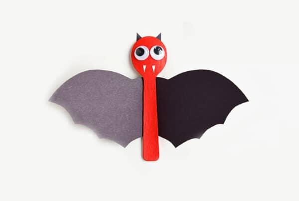 Halloween Craft Spoon Bats